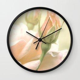 Gentle Roses Wall Clock