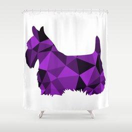 Geo Scottie - Purple Shower Curtain
