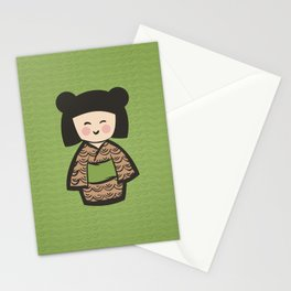 Geisha Dress Code (green) Stationery Cards