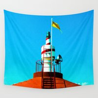 lighthouse Wall Tapestries featuring Lighthouse by EPART