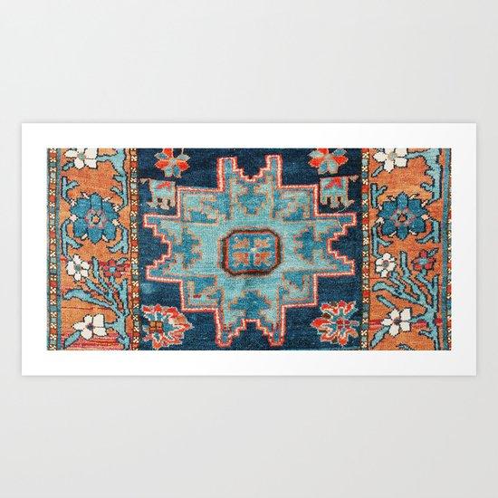 Karabakh  Antique South Caucasus Azerbaijan Rug Print by vickybragomitchell
