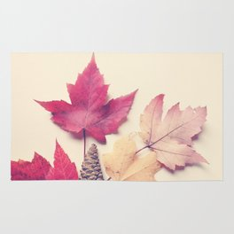 Red Maple Leaf Collection Rug