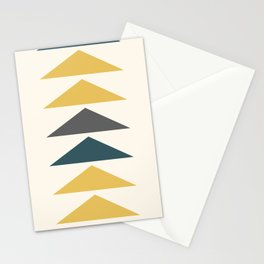 Mid Century Triangles Yellow Stationery Cards