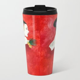 Red Wall Geisha Metal Travel Mug