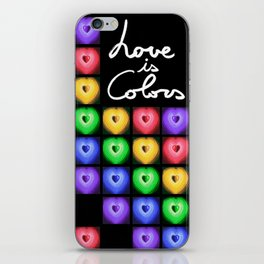 Love is colors iPhone Skin