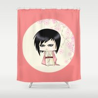 berserk Shower Curtains featuring Akito Sohma by artwaste