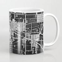 las vegas Mugs featuring Vintage Las Vegas by Upperleft Studios