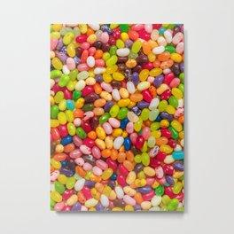 Gourmet Jelly Bean Pattern  Metal Print