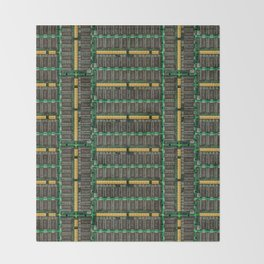 Computer memory modules background Throw Blanket