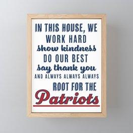 Family Rules NE Patriots Framed Mini Art Print