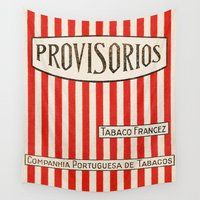 cigarette Wall Tapestries featuring Provisorios - Vintage Cigarette by Fernando Vieira