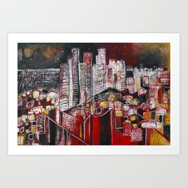 Dreaming of Los Angeles Art Print
