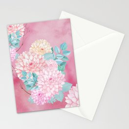 Dahlia Bush #society6 Stationery Cards