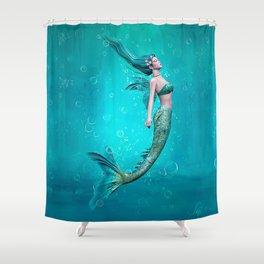 Underwater Mermaid Shower Curtain
