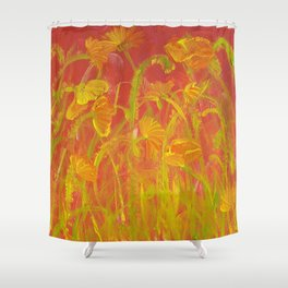 Red Hot Poppies Shower Curtain