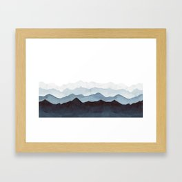Indigo Mountains Landscape Framed Art Print