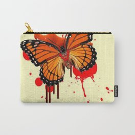 BLOODY BLEEDING ORANGE MONARCH BUTTERFLY Carry-All Pouch