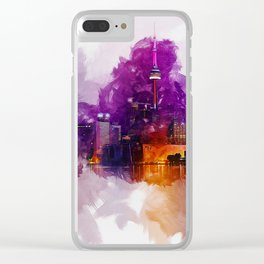 Toronto Canada Skyline Art Clear iPhone Case