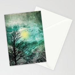 TREES under MAGIC SKY I Stationery Cards