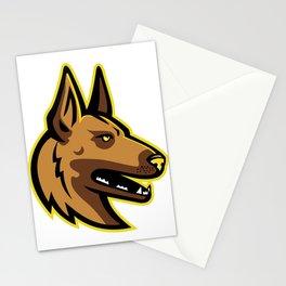 Belgian Malinois Dog Mascot Stationery Cards