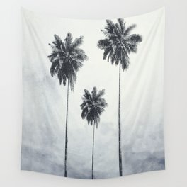 Three Palm Trees Wall Tapestry
