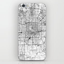 Beijing White Map iPhone Skin