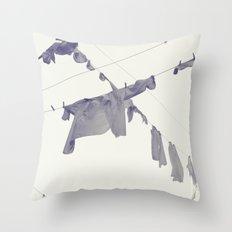 washing... Throw Pillow