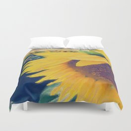 sunflower and little bee Duvet Cover