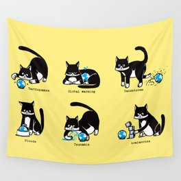 Cat disasters Wall Tapestry