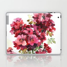 Watercolor geranium flowers Laptop & iPad Skin