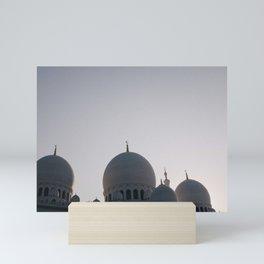 Abu Dhabi adventures; Sheikh Zayed Grand Mosque Mini Art Print