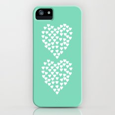 Hearts Heart x2 Mint Slim Case iPhone (5, 5s)