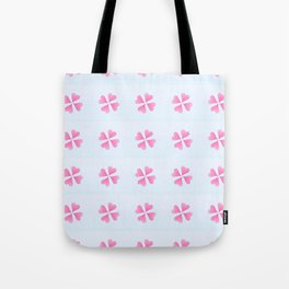 heart 10 – Heart flower –  Pink and blue Tote Bag