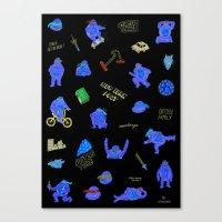 teenage mutant ninja turtles Canvas Prints featuring Teenage Mutant Ninja Turtles by catalinabu