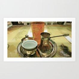 Bosnian Coffee  Art Print