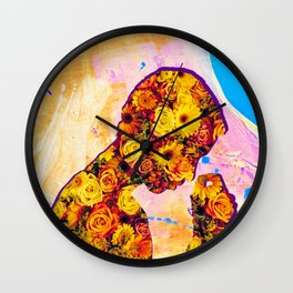 Innerbloom - Flower Person Collage Wall Clock
