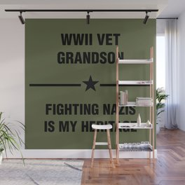 WWII Grandson Heritage Wall Mural