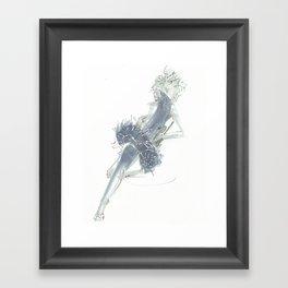 Relax in Grey  Framed Art Print