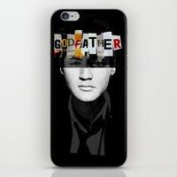 godfather iPhone & iPod Skins featuring Godfather Mix 2 black by Marko Köppe