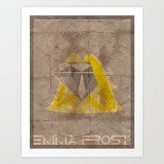 Minimalist Emma Frost Art Print