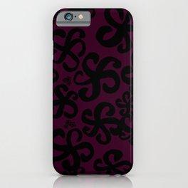 Maroon Hibiscus iPhone Case