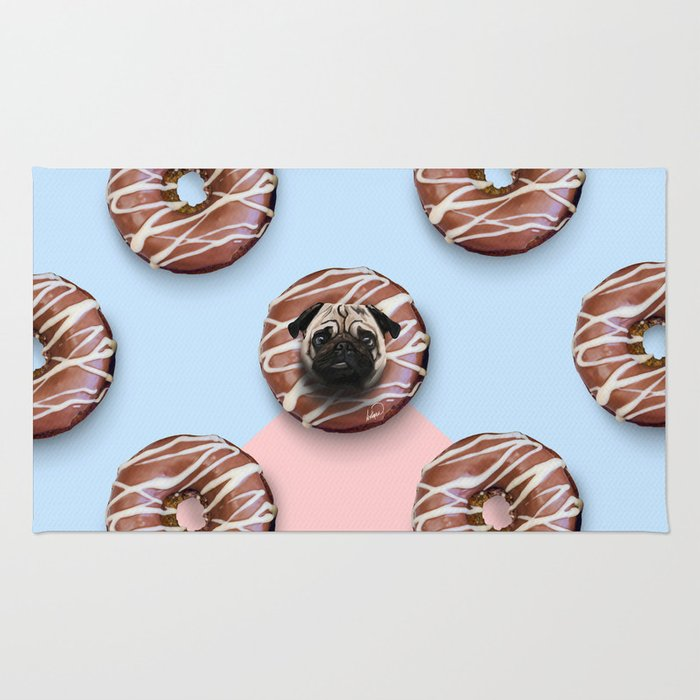 The Pug Donuts Rug