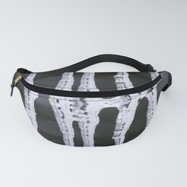 Icicles Reflections On A Bokeh Background Black And White #decor #society6 Fanny Pack