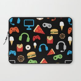 Video Game Party Snack Pattern Laptop Sleeve