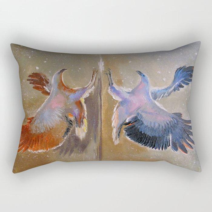 eagle hunting Rectangular Pillow