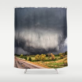Tornado Day - Storm Touches Down in Northwest Oklahoma Shower Curtain