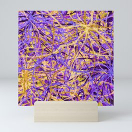 Purple and Gold Celebration Mini Art Print