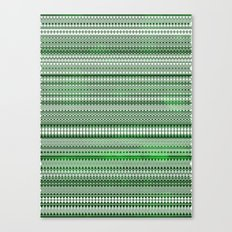 Tribality Green Texture Canvas Print