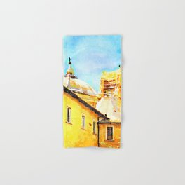 L'Aquila: convent with dome and collapsed bell tower Hand & Bath Towel