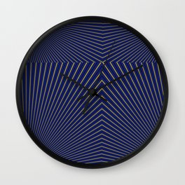 Navy and Gold Stripes 6 by LH Wall Clock